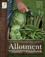 The front cover of the RHS Allotment Handbook, published by Mitchell Beazley